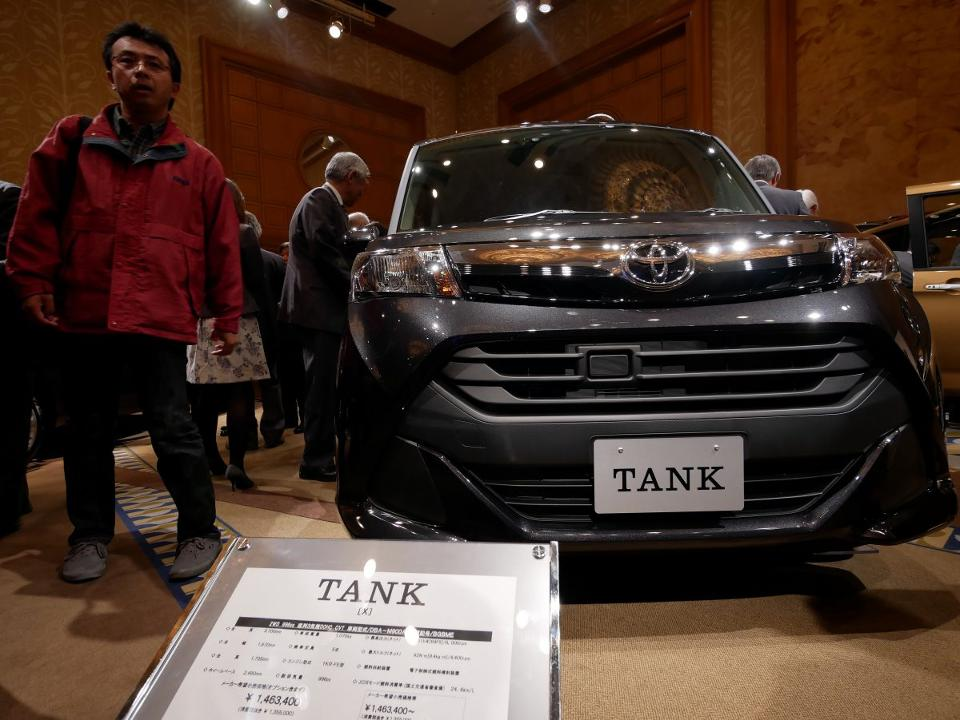 Model Toyotas Tank, Of Course, Is For Entirely Peaceful Purposes It Is A New Compact Minivan, Built On The Bones Of Daihatsu  As A Toyota Roomy All Look Like The Boxy Kei Cars Common To Japan, But They Have A Slightly Less Anemic Engine