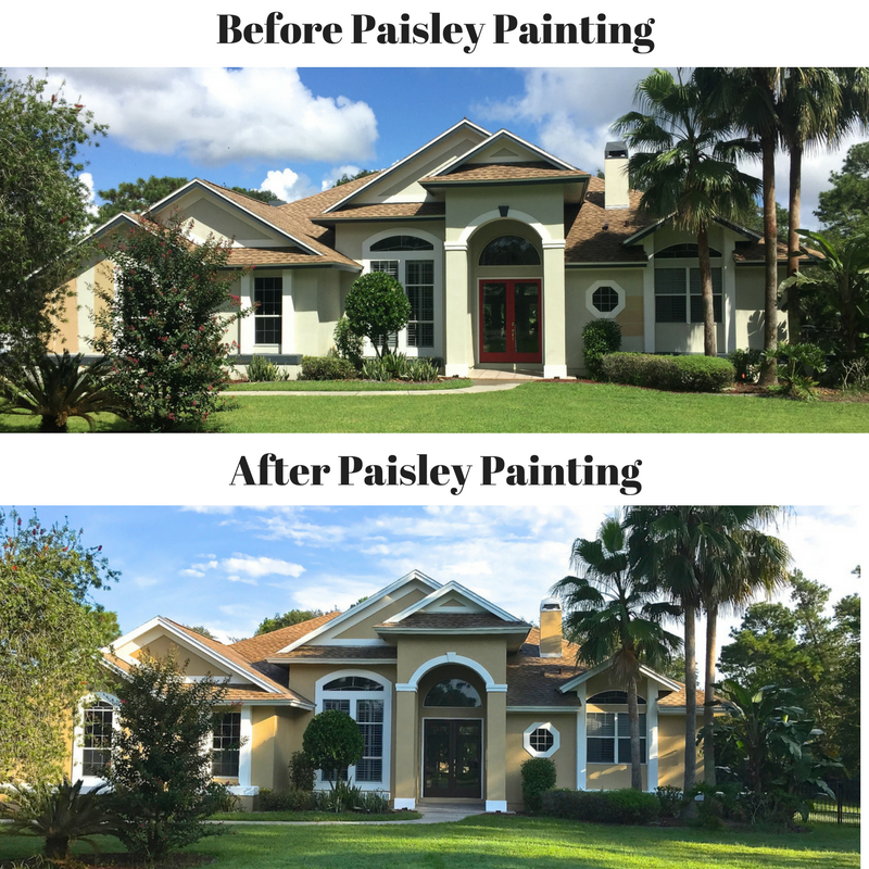 Paisley painting house painter orlando professional for Paisley house