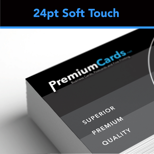 24pt soft touch business cards on sale save 15 business cards save 15 on the worlds most luxurious card stock available today our 24pt soft touch laminated business cards are available in several sizes and options colourmoves