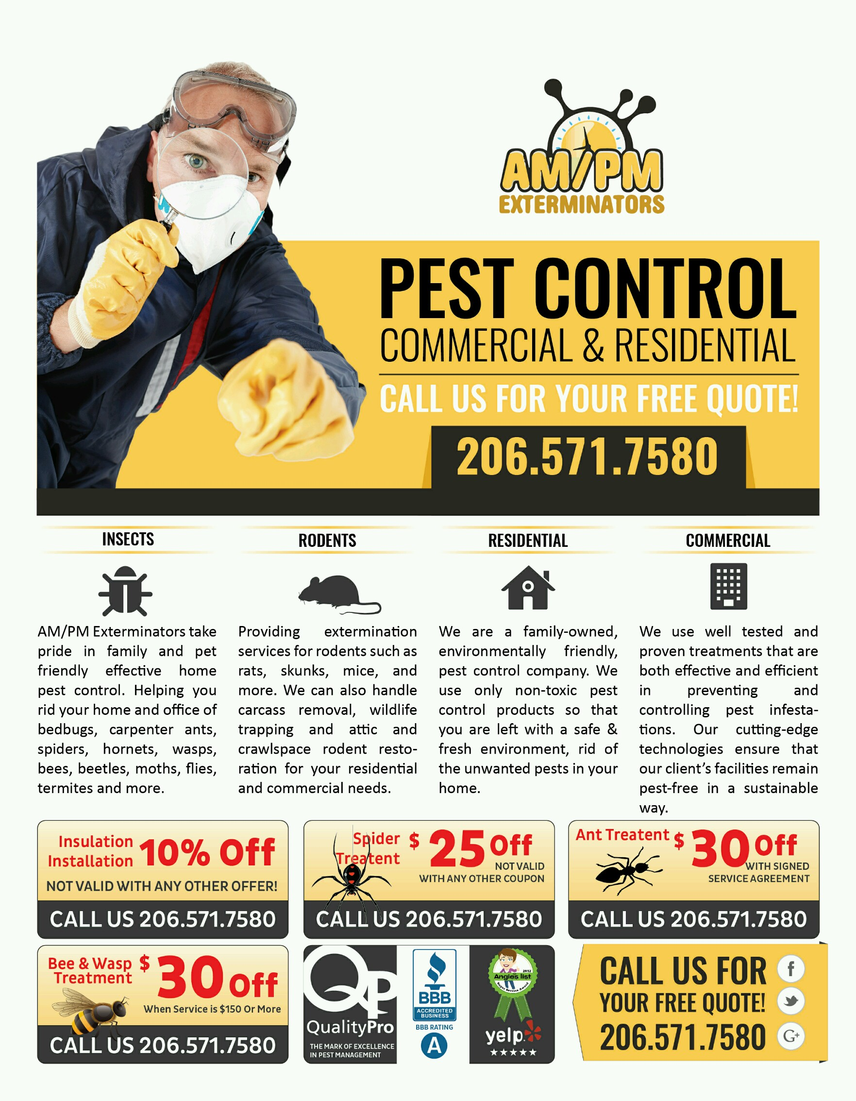 Pest Control Services : Seattle exterminators bed bugs spread like wild fire in