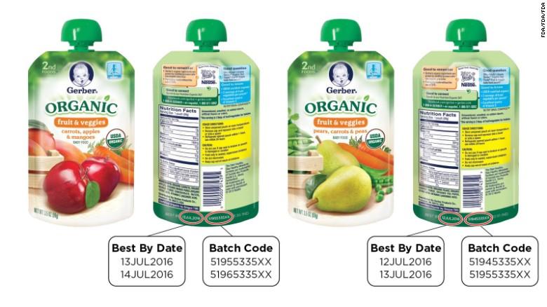 Pc Organic Baby Food Recall
