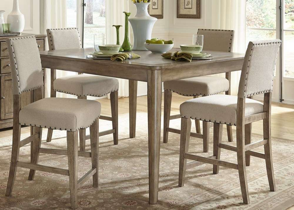 Dining room set square counter height efurniture mart for Square dinette sets