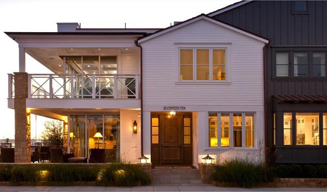 Balboa Island Beach House With Coastal Interiors Home