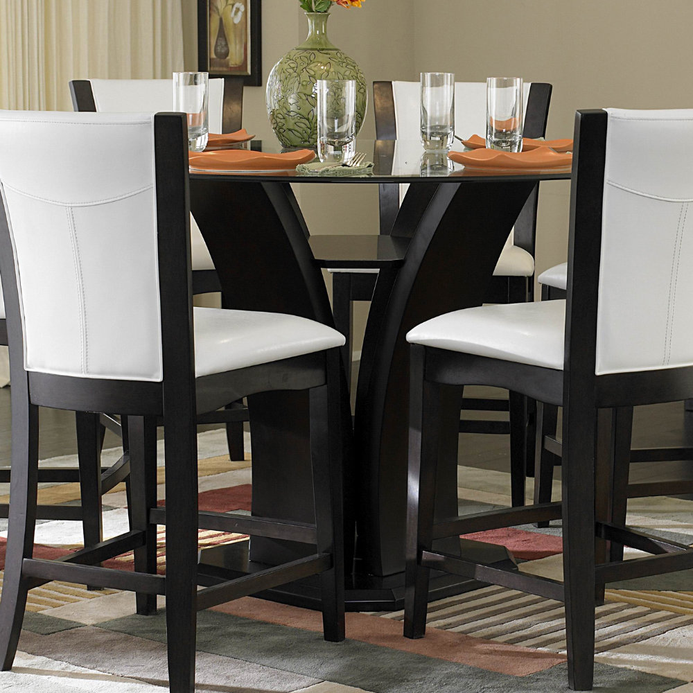 Counter height table dining table set efurniture mart for Tall dinner table set