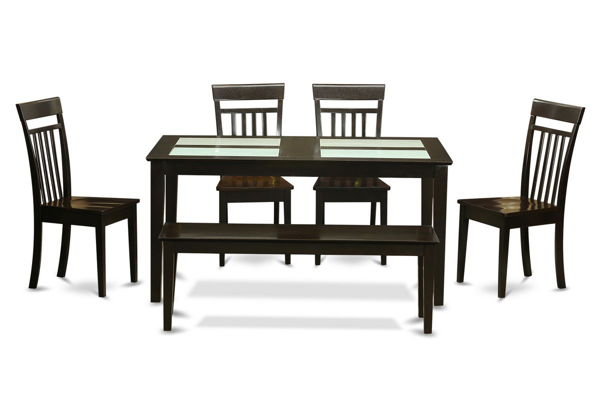 Rectangular dining room set w 4 chairs efurnituremart for Front room furniture sets