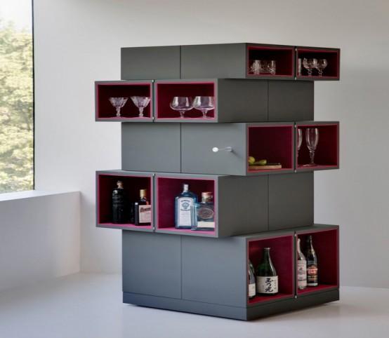 Designer Discount Furniture: Unique Transforming Cubrick Storage Cabinet