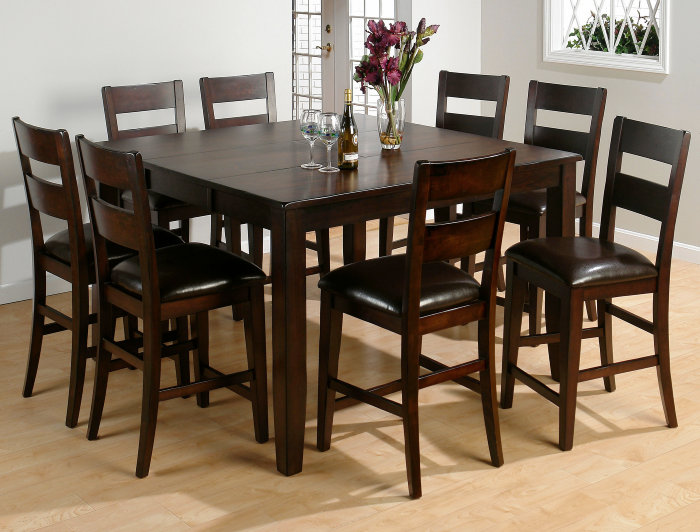 9 piece counter height dining room sets 9 set kitchen amp dining furniture tables chairs 9159