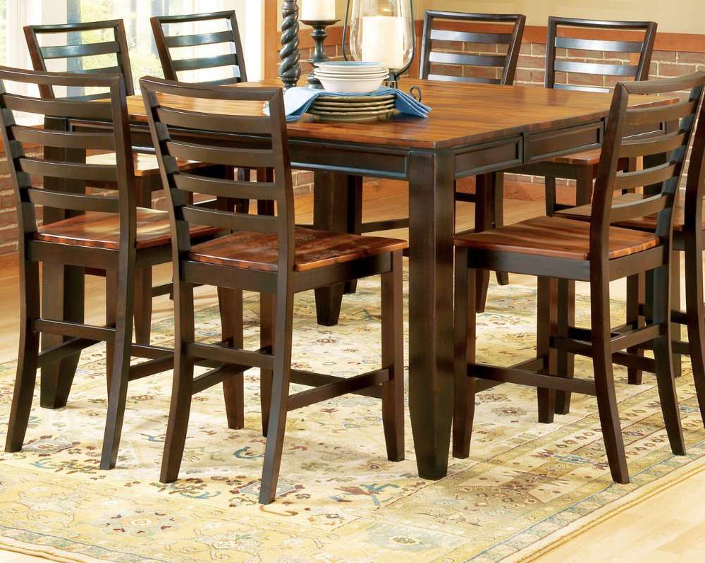 Steve silver abaco 54 36 counter height table efurniture for Dining room table 54 x 54