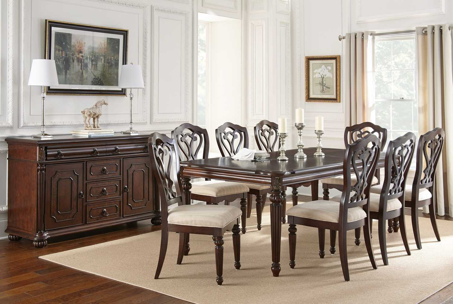steve silver 10 piece 84 42 dining room set