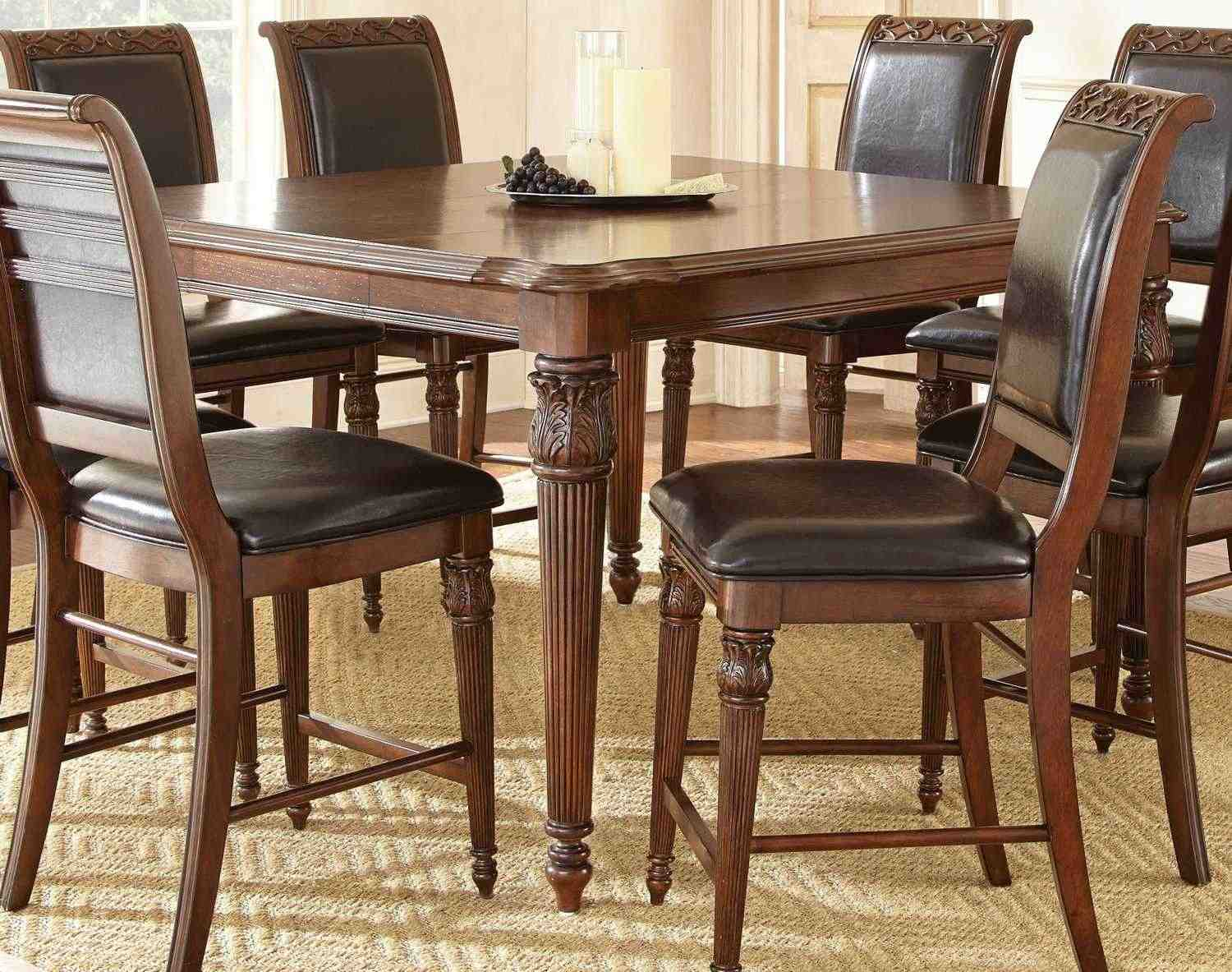 Steve silver alberta 58 40 rectangular counter height table buy online at efurnituremart - Dining tables buy online ...