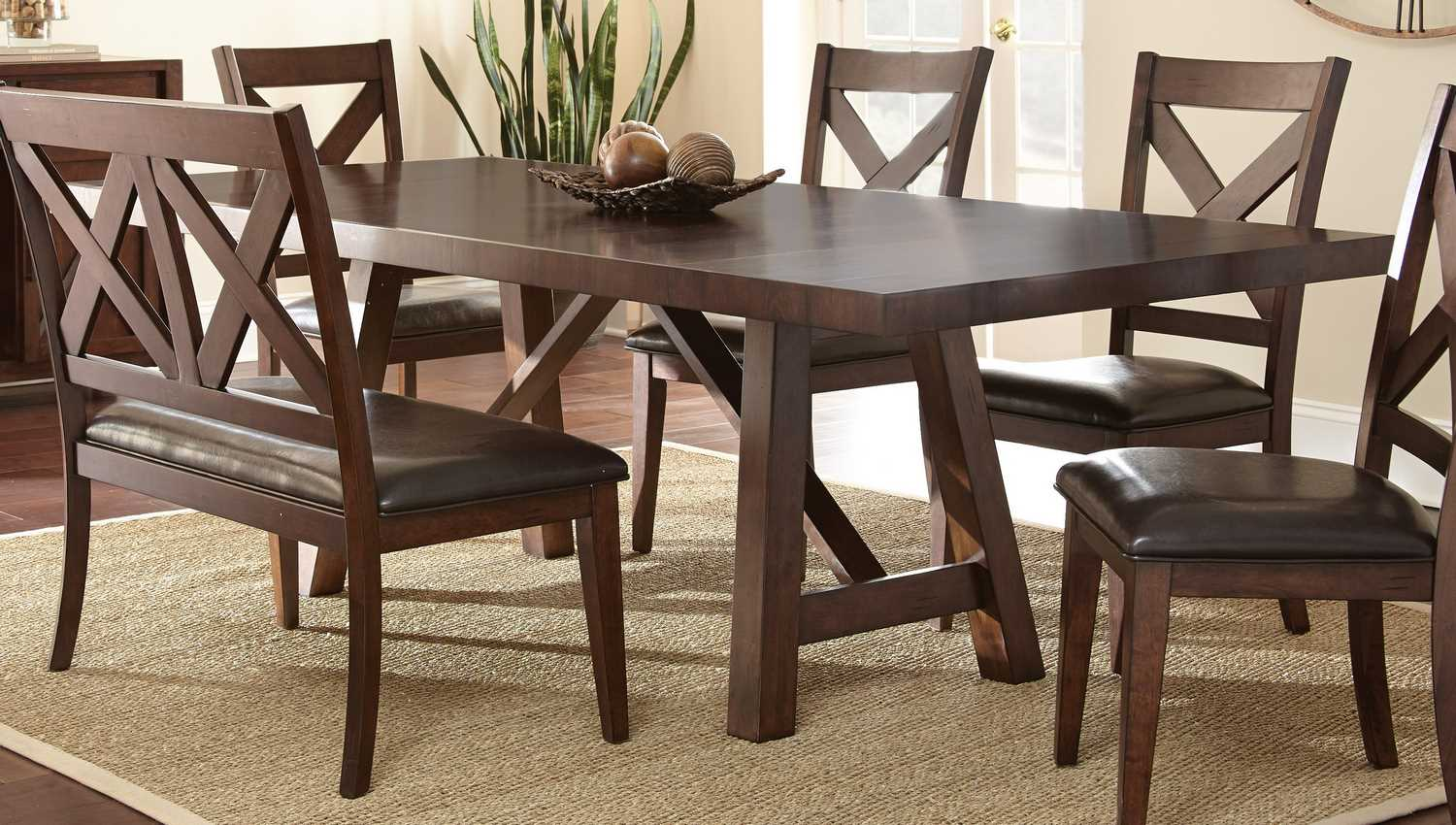 Steve silver clapton 96 42 rectangular dining table in warm distressed espresso furniture mall Home design furniture llc