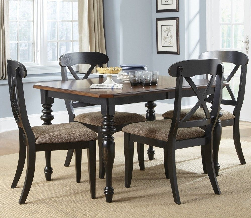 Liberty furniture abbey court 5 piece 72 38 rectangular for Decor 8 piece lunch set