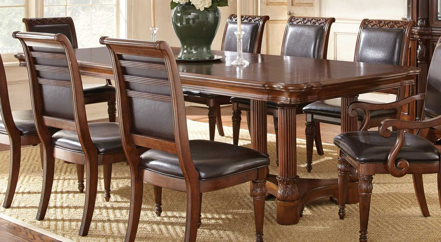 Steve silver furniture store dining room sets tables for Dining table with 6 chairs cheap