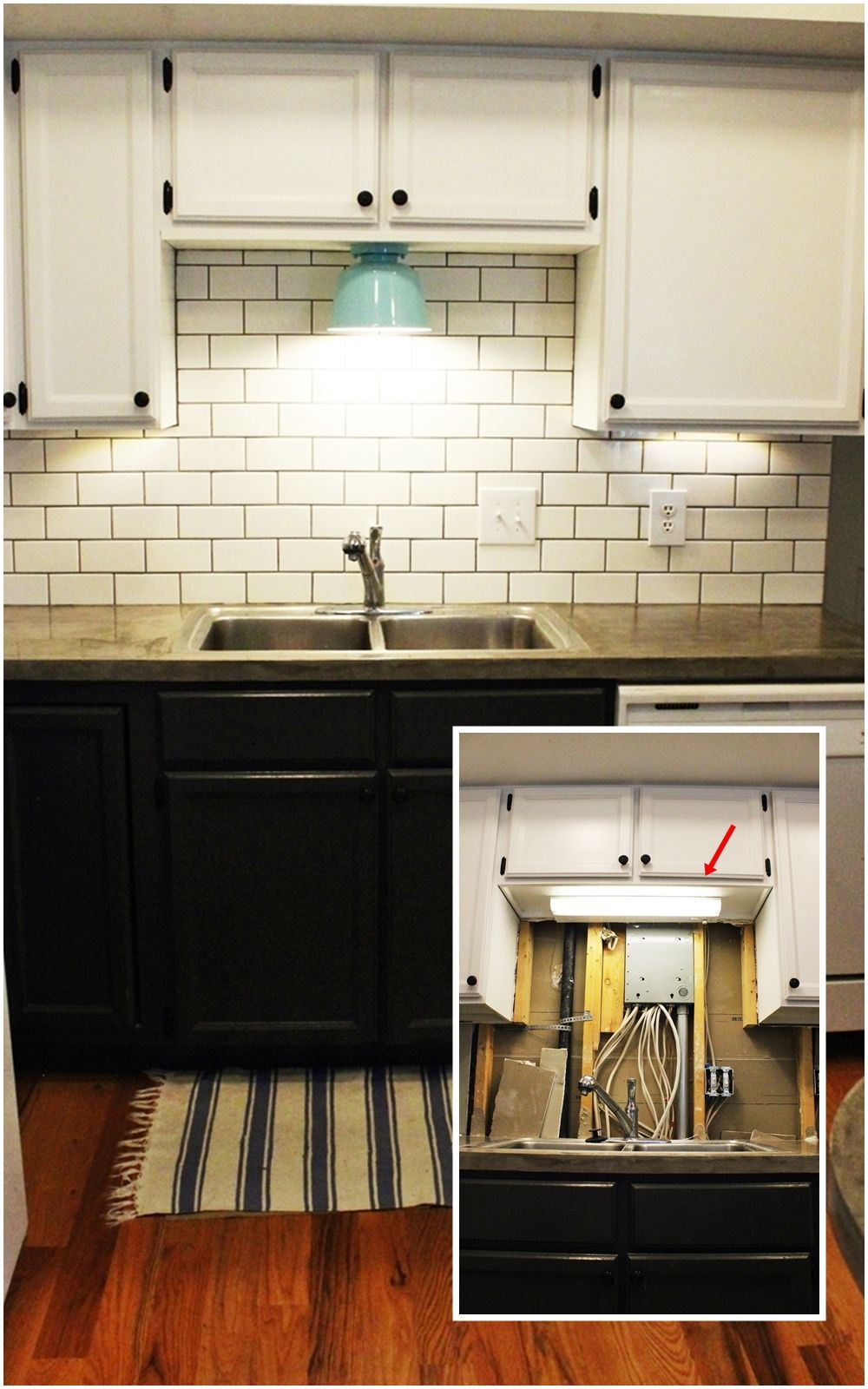Https Efurnituremart Wordpress Com 2016 01 10 Diy Kitchen Lighting Upgrade Led Under Cabinet Lights Above The Sink Light