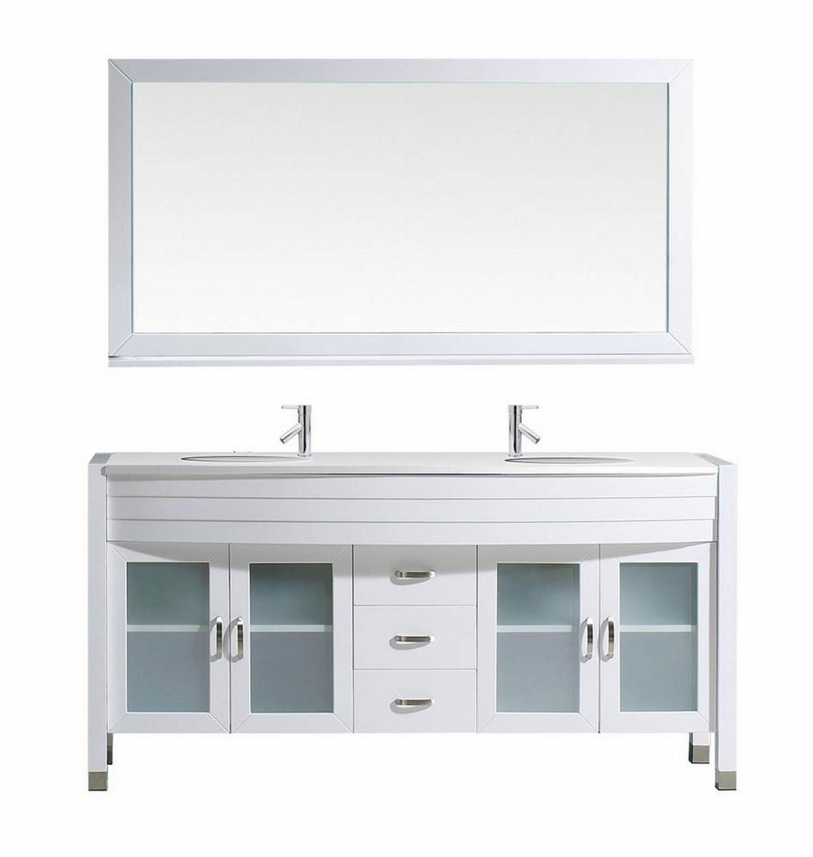 Virtu Usa Ava 63 Inch Double Bathroom Vanity Cabinet Set In White Efurniture Mart Home Decor