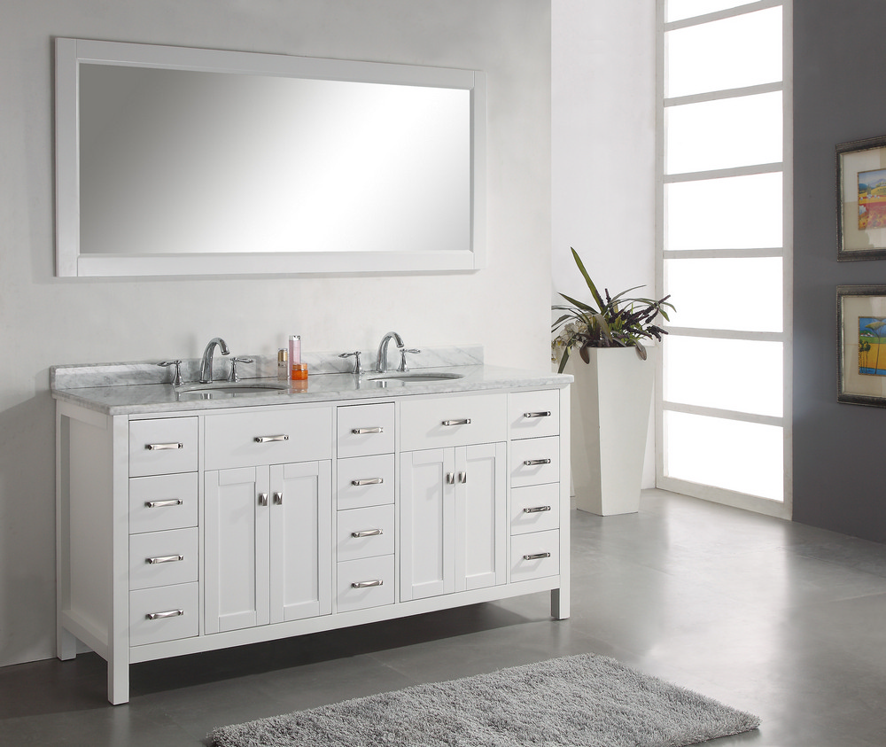 Bathroom vanities double sink vanities home decor for Bathroom 72 inch vanity