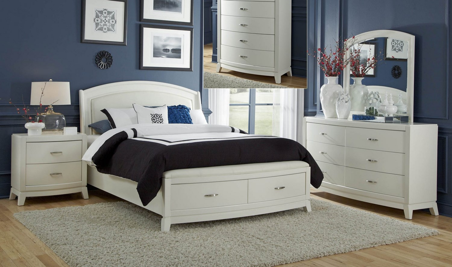 Liberty furniture avalon ii 3 piece storage bedroom set furniture mall llc home decor Home design furniture llc