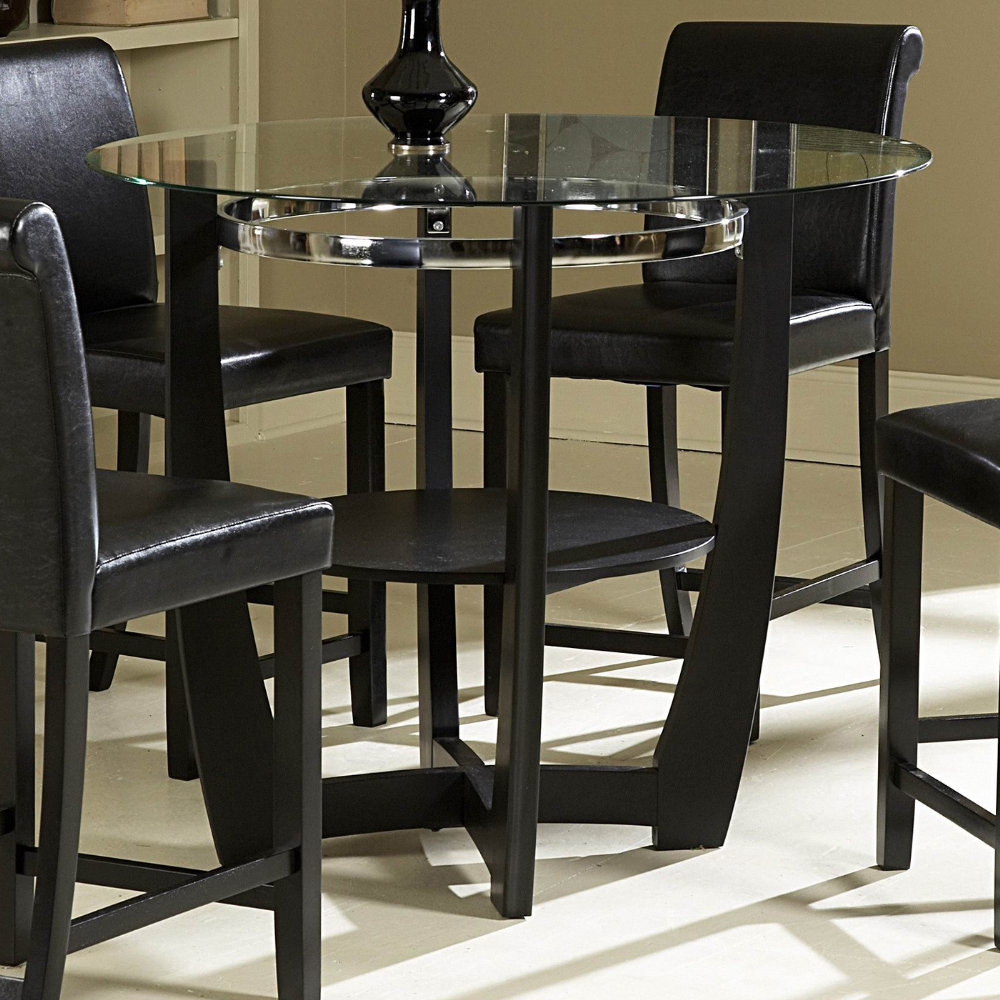 Dining Room Sets with Glass or Marble Top Table Home  : efurnitureMart 1455568547 42 inch glass dining table Homelegance Sierra 42 Inch Round Counter Height Table in Ebony from efurnituremart.wordpress.com size 1000 x 1000 jpeg 188kB