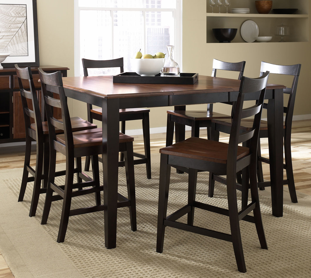 A america bedroom and dining room furniture efurniture for Decor 7 piece lunch set