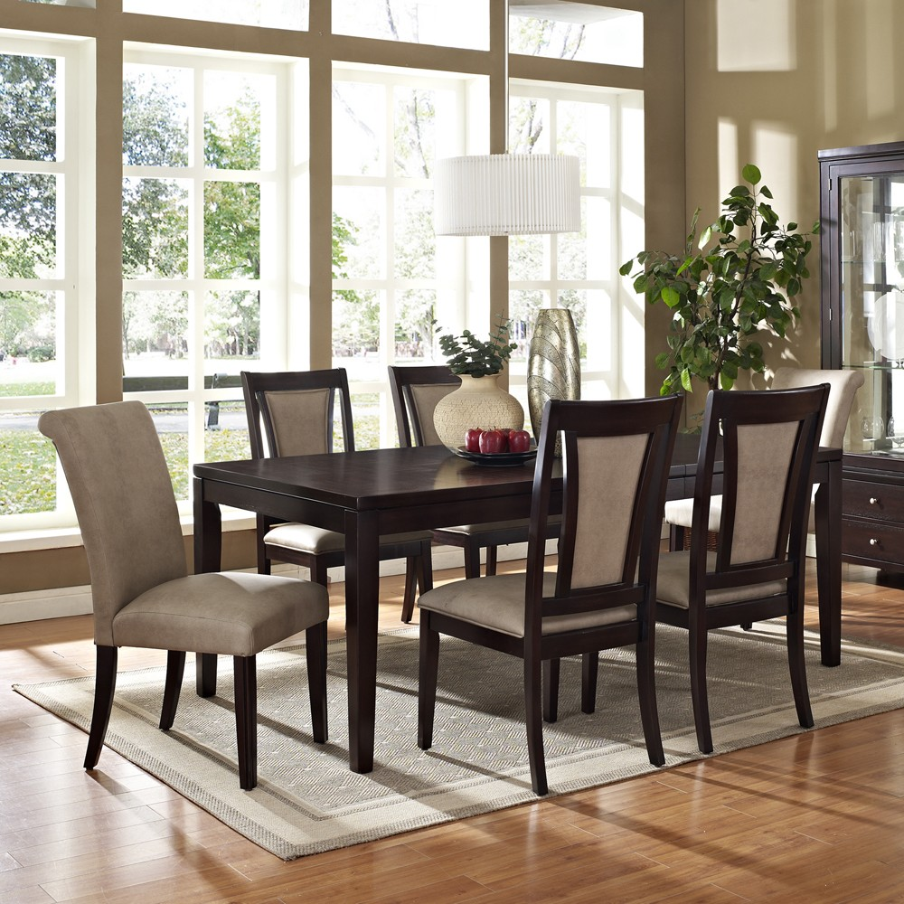 Steve silver wilson 7 piece 60 42 dining room set in espresso furniture mall llc home decor - Home decorated set ...