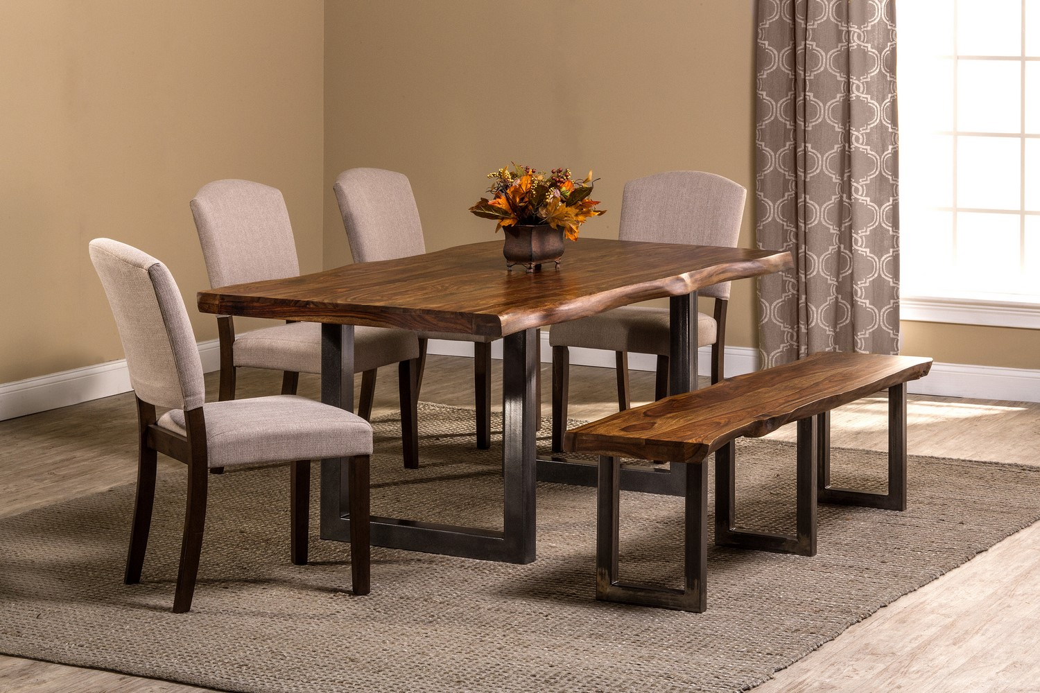 New arrival hillsdale emerson 6 piece 80 39 rectangular for Dining room sets 6 piece
