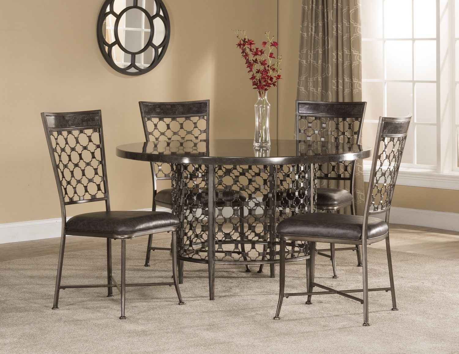 Hillsdale brescello 5 piece round dining room set buy for 5 piece dining room sets cheap