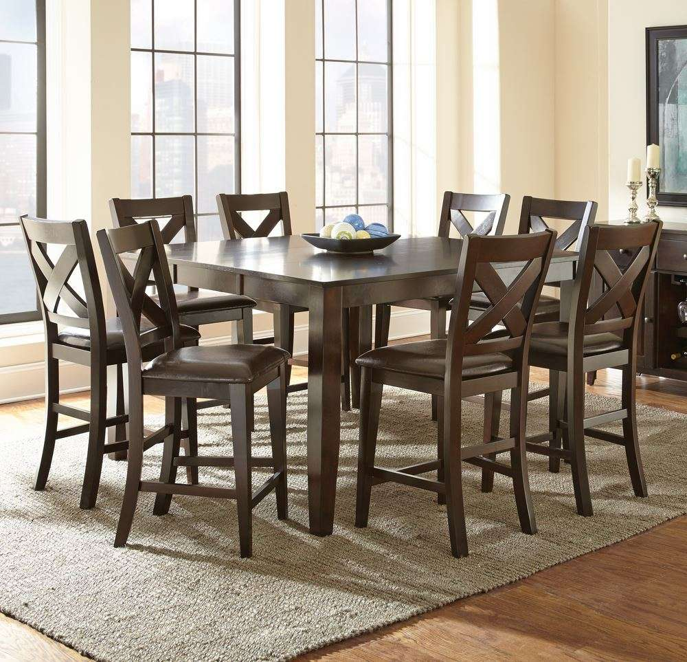 Counter height dining room sets dining room sets glass for Best dining room table height