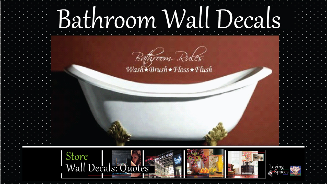 Bathroom wall decor quotes - Bathroom Wall Decals Are Surprisingly Simple And Practical Wall Decorative Items That You Can Use Creatively To Add Humorous Wall Art Or Educational