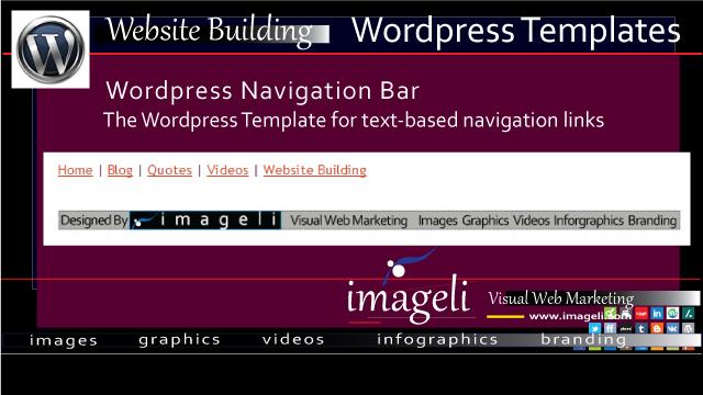navigation bar wordpress templates for the text based navigation