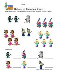 havefunteaching 1414589986 halloween counting worksheet Halloween Counting Worksheet