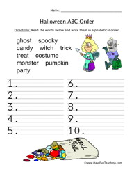 Have Fun Teaching Blog: Halloween Worksheets