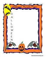 havefunteaching 1414590213 halloween acrostic poem Halloween Acrostic Poem Worksheet