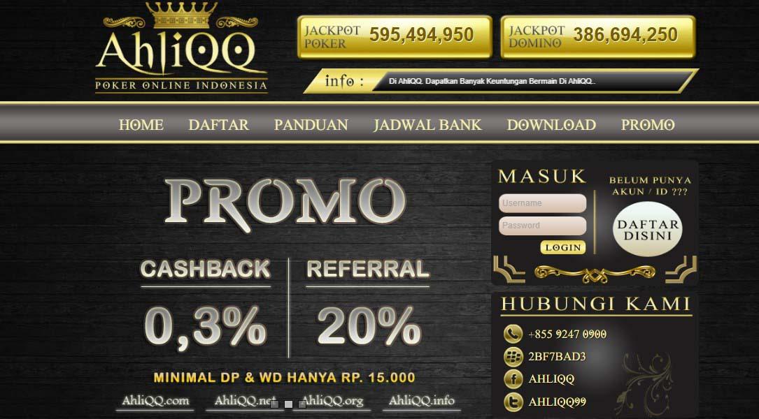 Ahliqq : Agen Situs Bandarq Online Dominoqq Poker Terpercaya 2017