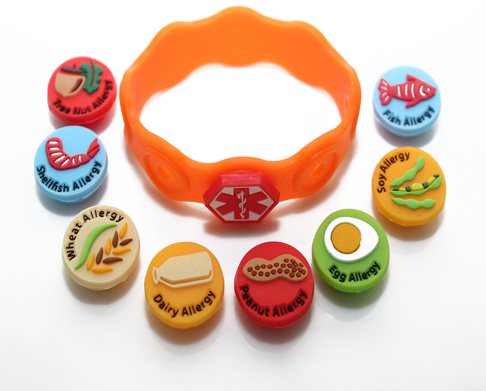 kid allergy bracelet food allergy awareness bracelet national allergy supply 5321