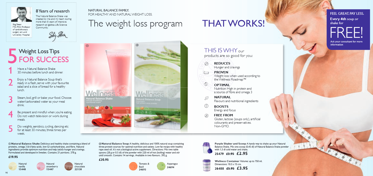 oriflame wellness the weight loss program that works