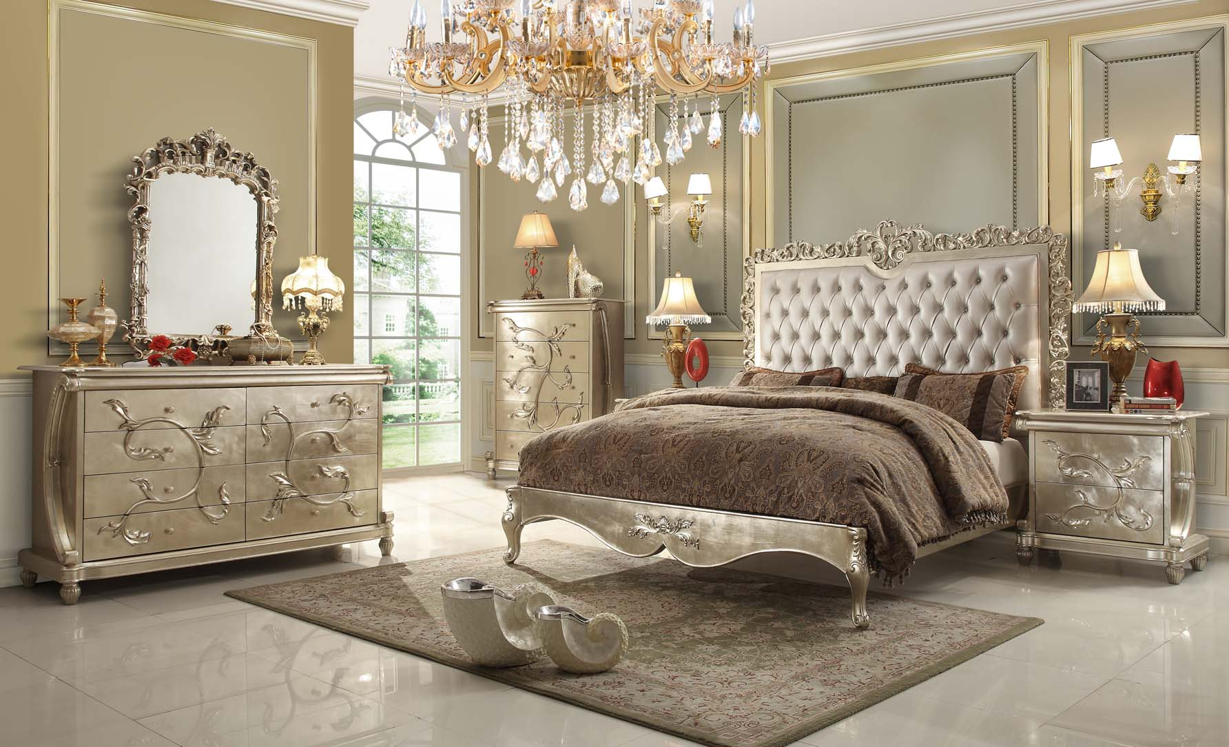 Pearl victorian design bedroom set from homey design Victorian bedrooms
